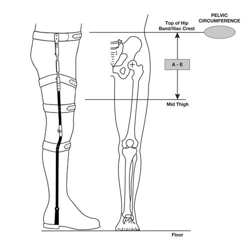 Bilateral Hip-KAFO Torsion Splint