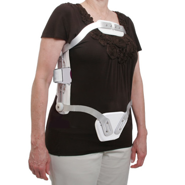 Hyperextension TLSO With Swivel Sternal Pad, Quick Release Closure, Adjustable Uprights