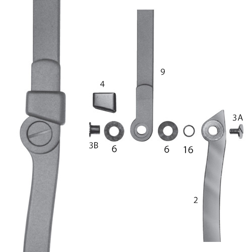 Ring Lock Knee Joint Assembled With Bushing And Screw