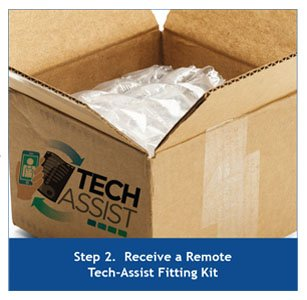 Step 2. Receive a Remote Tech-Assist Fitting Kit