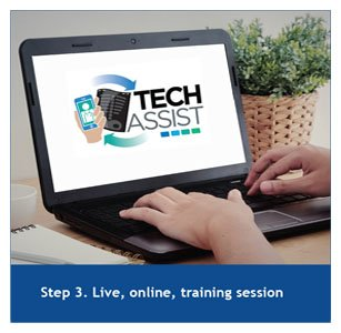 Step 3. Live, online, training session