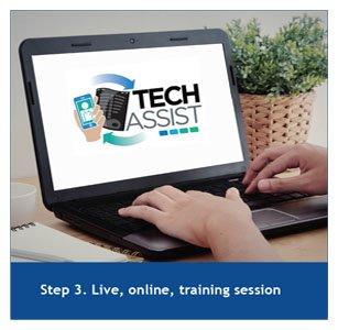 Step 3. Live, online, training session